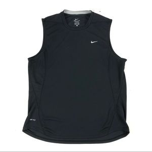 Nike Dri Fit Sleeveless Tank Top Black Loose Fit